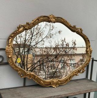 Barock Wandspiegel Gold Oval Spiegel Antik Rokoko Badspiegel Shabby Prunk