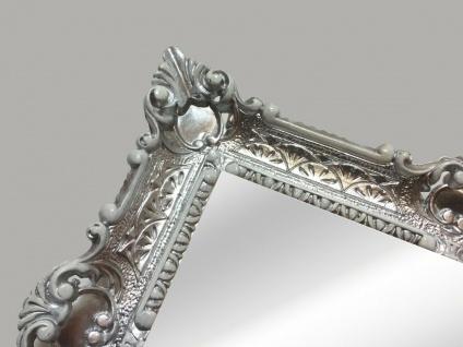 Bilderrahmen Silber Weiß Barockrahmen 56x46 Antik Prunk Rahmen Gemälderahmen