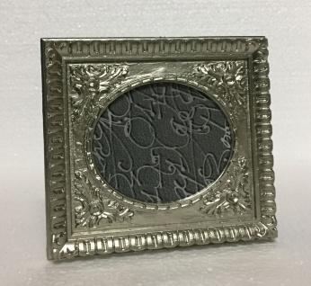 Bilderrahmen Antik Silber Barockrahmen Fotorahmen Rechteckig Shabby c78-p