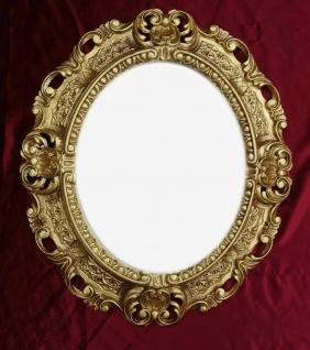 Bilderrahmen Antik Oval Gold Barock Fotorahmen 45X37 Rahmen ohne Glas