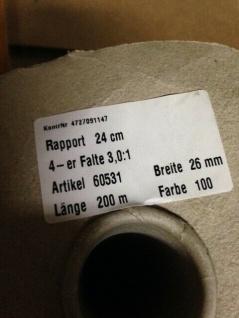 10 Meter Weiß Kräuselband Gardinenband Gardinenzubehör 26mm Faltenband - Vorschau 5