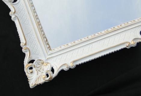 Wandspiegel 90x70 Spiegel BAROCK Rechteckig Antik 1111 Weiß-Gold Badspiegel 1 - Vorschau 5
