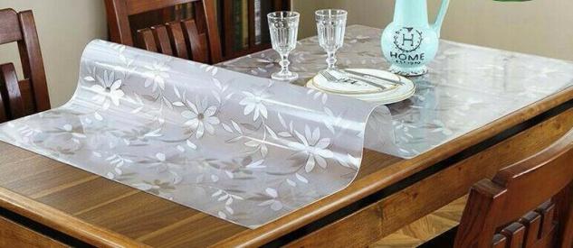 Tischschutz Folie transparent Tischschutz Folie 90-120cm Milchig Tischdecke
