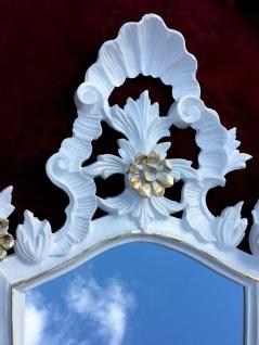 Wandspiegel Barock Weiß gold Spiegel Antik Badspiegel Barspiegel 83x43 Oval C1G - Vorschau 4