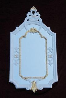 Wandspiegel Barock Weiß Gold Antik rokoko 58X31 BadSpiegel c456 Flurspiegel