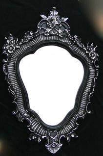 Wandspiegel Schwarz Silber Barock 103x73cm Badspiegel Antik Retro Repro