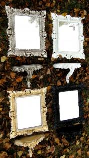 Wandspiegel mit Konsole Schwarz Barock Spiegelablage 45X37 Wandkonsole Antik