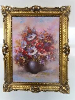 Blumen Rosen Bild 90x70 Bild mit Rahmen Rosen BLUMEN Gemälde gerahmt 97