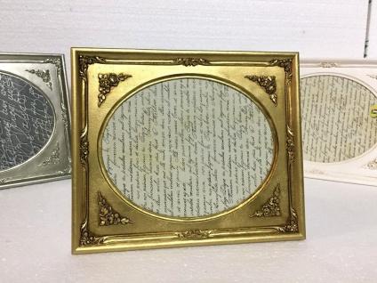 Bilderrahmen Gold Oval Rechteckig 25x21 Antik Barockrahmen Fotorahmen Deko C69 p