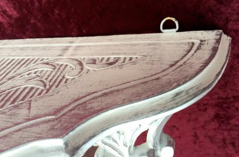 Konsole, Ablage Weiß-Silber Antik, Barock 38x20x16 Wandkonsole Wandregale 103083 - Vorschau 4