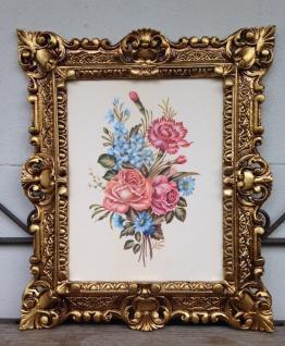 Gemälde Rahmen Blumen Rosen Bilder 45x38 cm Kunstdruck Bild Wandbild mit Rahmen