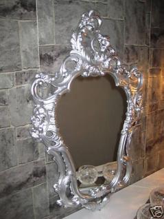 Bilderrahmen oval Silber Barock Motivrahmen 50X76 Antik Rokoko Stil Hängerahmen
