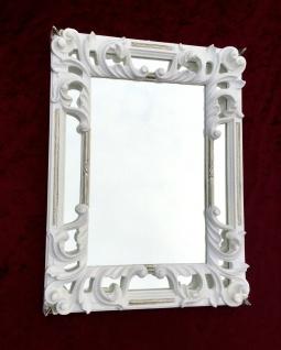 Wandspiegel weiß Silber Antik 41X32 Rechteckig Barock Flurspiegel Shabby C491S