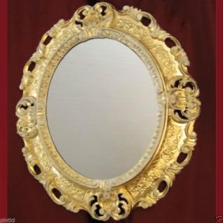 Wandspiegel Spiegel BAROCK Antik , GOLD-WEISS 45x38 Oval Badspiegel 103045