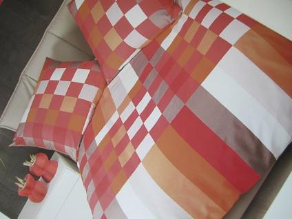 Janine Mako Satin Bettwäsche 135x200Bettgarnitur Mehrfarbig Aprico Rot Baumwolle
