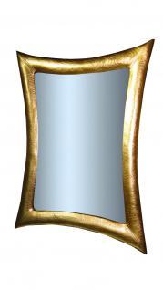 Wandspiegel Gold Lederoptik 115x85 Holzrahmen Bad- Friseur- Flurspiegel groß
