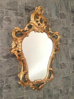 Exklusive Barock Oval Spiegel Wandspiegel Gold 50x76 Antik Prunkspiegel Modern