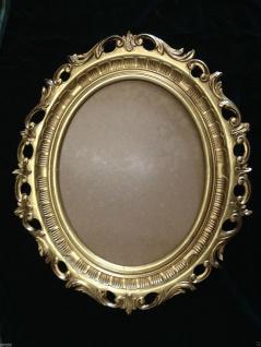 Bilderrahmen Gold Oval Antik Rokoko Fotorahmen 58x68 Prunkrahmen mit Glas