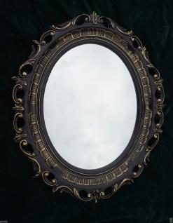 Wandspiegel Oval Schwarz Vintage Retro 57x41 Shabby Stil Badspiegel Modern