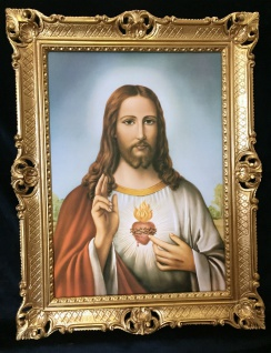 Jesus Christus Wandbild Christliche Heilige Jesus Bild Bilderrahmen Gold H1 - Vorschau 3
