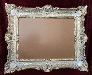Bilderrahmen Weiß-Gold mit glas 56x46 Gemälde rahmen Antik /Fotorahmen 30x40 - Vorschau 5