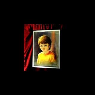 Weinende Kinder als Motiv Kult Bilder 74 x54cm Neu Rahmen Bilderrahmen Deko