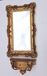 Wandspiegel mit Konsole Antik barock Wandkonsole mit Schublade Hängekonsole 97cm