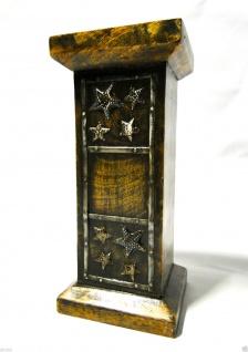 Kerzenhalter Holz Antik 24x11 Kerzenständer aus Mango Holz Ausstellungsstück 495 - Vorschau 4