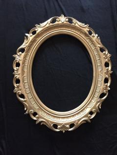 Wanddeko Bilderrrahmen GOLD Spiegelrahmen 58x68 BAROCK Antik Oval Neu 3041R