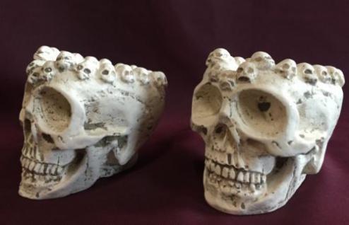 Totenkopf schädel Aschenbecher Natur 10x7 Skull Gothic Fantasy Figur Deko Skull - Vorschau 2