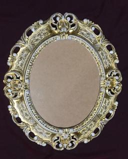 Bilderrahmen Barock Gold-Weiß Oval 45X37 Antik Fotorahmen Bilderrahmen mit Glas - Vorschau 2