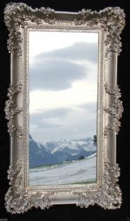 Wandspiegel Antik Barock SILBERANTIK Spiegel Repro DEKO 97x57 Groß Ornamente - Vorschau 2