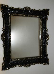 Spiegel Antik Schwarz-Gold Wandspiegel Barock Shabby Chic, Jugendstil 57x47 - Vorschau 5
