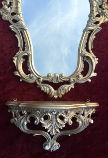 Wandspiegel Gold Barock+Wandkonsole Antik 50 x 76 Wandregale Badspiegel Mirror