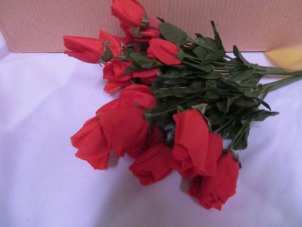12 x Seidenblumen höhe 69 cm künstliche Rosen Rot Restposten Neu Ware - Vorschau 2