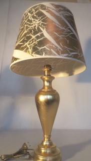 Tischleuchte , Nachttischlampe , Tischlampe 73 cm Gold - Weiß Muster - Vorschau 2