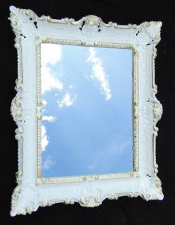 Wandspiegel Spiegel Barock Badspiegel Weiß-Gold Rechteckig 57x47 Antik Mirror