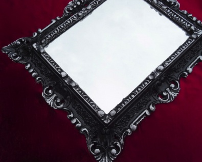 Bilderrahmen Barock Schwarz-Silber mit Glas 45x38 Rechteckig Antik Fotorahmen