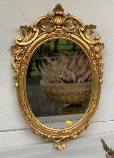 Barock Wandspiegel Gold Oval Spiegel Antik Rokoko Badspiegel 49x32 Shabby Prunk - Vorschau 4