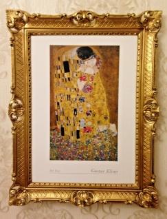The Kiss Gustav Klimt 90x70 Der Kuss Gemälde Wandbild Kunstdruck Barock Bild - Vorschau 2