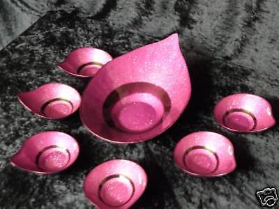 ETAGERE Lila/Schwarz Gold 7 teilige Servierschale Tischdekoration Schale