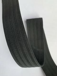 10 Meter Gummikordel Gummiband Hosengummi Gummilitze 35 mm Weiß-Schwarz kochfest - Vorschau 3