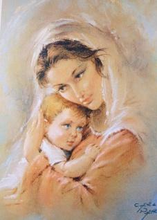 Mutter mit Kind Bild 50x70 Wandbild auf MDF Bild heilige Bild