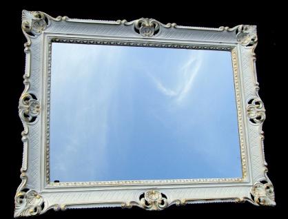 Wandspiegel 90x70 Spiegel BAROCK Rechteckig Antik 1111 Weiß-Gold Badspiegel 1 - Vorschau 3