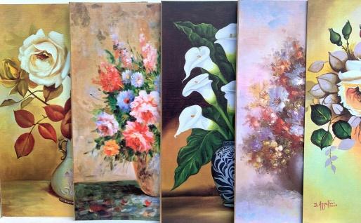 Blumenbilder Bild 50x70Blumen Poster mit MDF Rückwand Stillleben Kunstdruck Bild