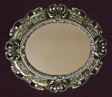 Bilderrahmen Antik Silber Barock Oval 45X37 Fotorahmen Bilderrahmen mit Glas