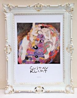 Gemälde Bild mit Rahmen 90x70 Die Jungfrau Gustav Klimt Barock