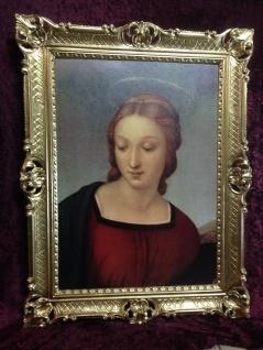 Maria Engel Madonna 90x70cm Wandbild Heilige Bild Bilderrahmen Gold
