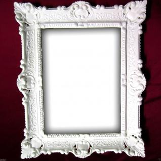 Bilderrahmen Weiß Barock Fotorahmen 57x47 Gemälderahmen Antik Jugendstil - Vorschau 2