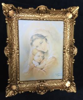 Bild Frau und Baby Wandbild & Rahmen 56x46 Gerahmte Gemälde heilige Bilder maria